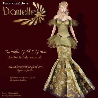 Danielle gold x gown