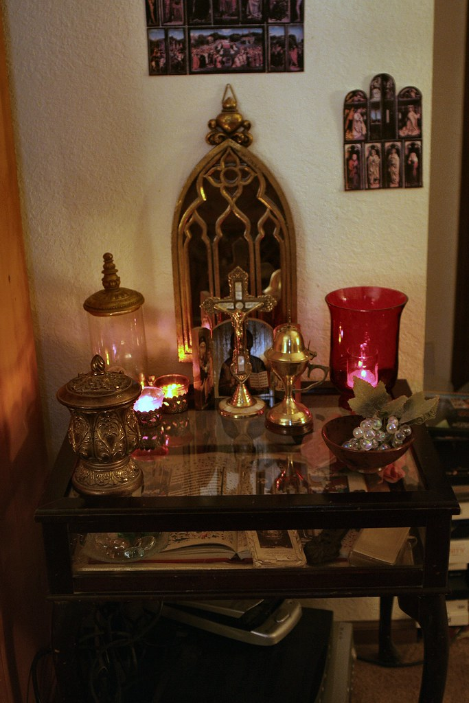 Home Altar By Candlelight