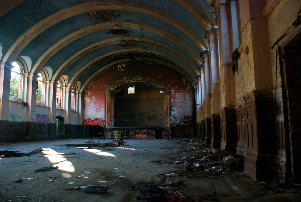 Main Hall, Hellingly Asylum by howzey