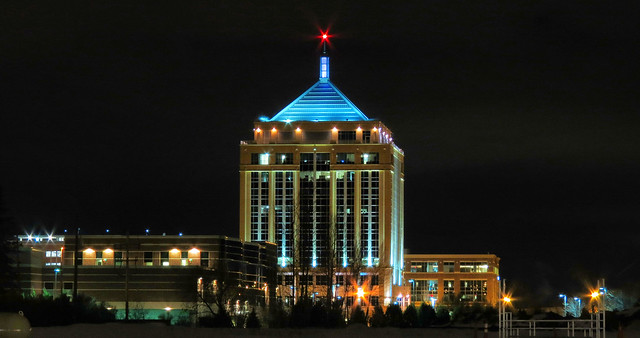 Dudley Tower At Night