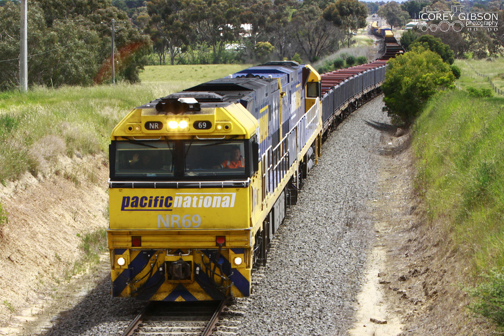 NR69 passes under the Peel rd bridge at Inverleigh by Corey Gibson