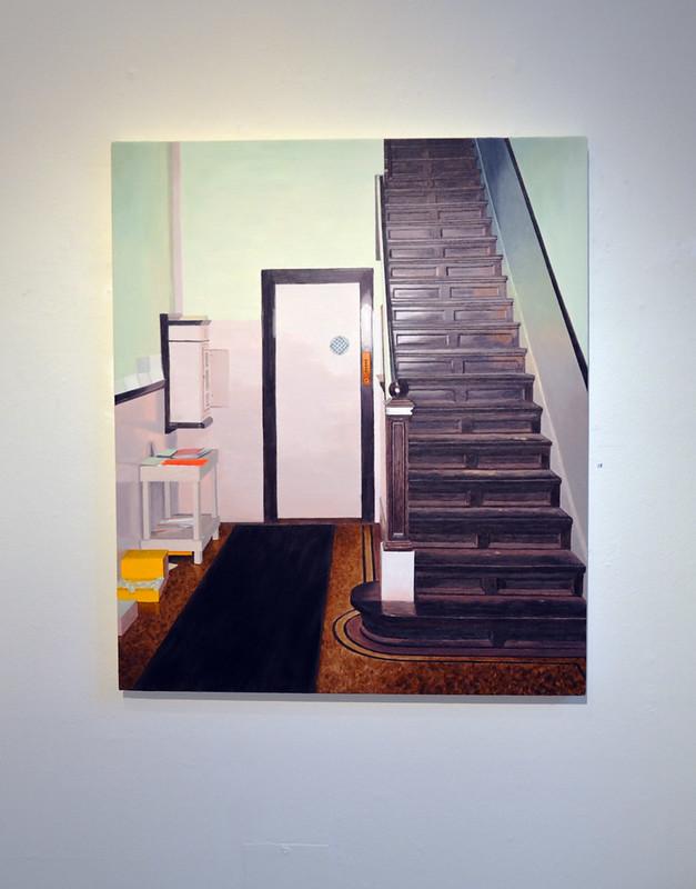 Pelle Perlefelt – trappan upp till ateljén i det gamla bankhuset.