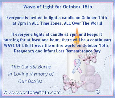 Will You Join Us in Commemorating Pregnancy and Infant Loss Remembrance Day? | by Merelymel13