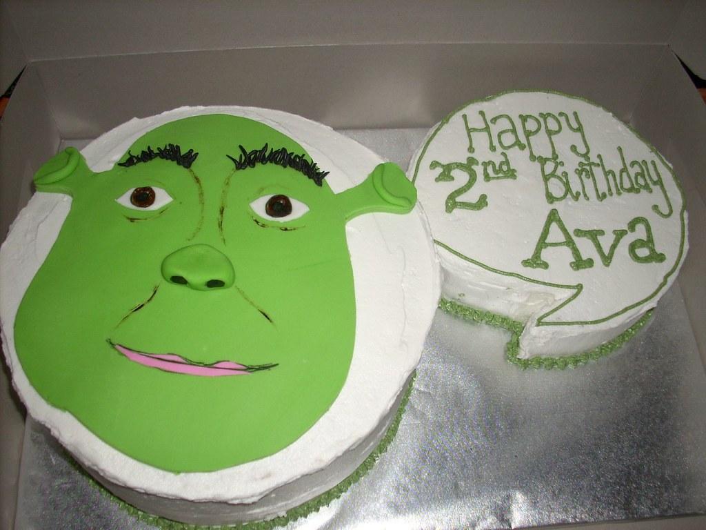Swell Shrek Birthday Cake Ktcakery Flickr Funny Birthday Cards Online Benoljebrpdamsfinfo