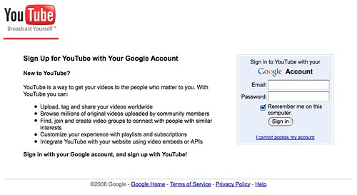 YouTube Sign in with your Google Account | Chris Messina
