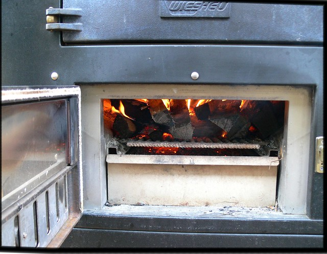 Wood Oven; into Dragan's maw
