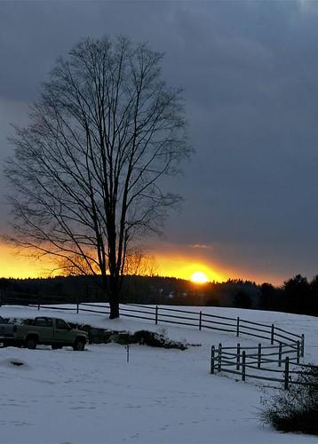 sunset snow d80