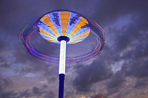 sunset blur texas spinning kemah carnivalride kemahtx