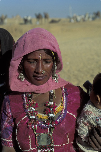 Portrait of woman with traditional jewels. India | by World Bank Photo Collection