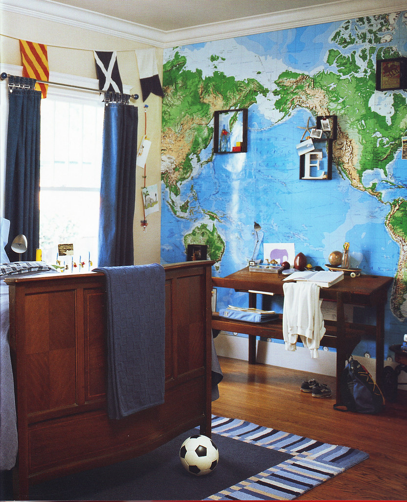 Pottery Barn Kids Rooms2 Since Using The World Map Mural