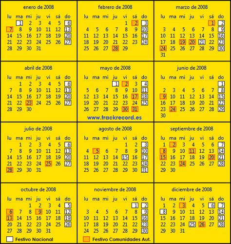 Calendario Laboral Espa 241 A 2008 Www Trackrecord Es