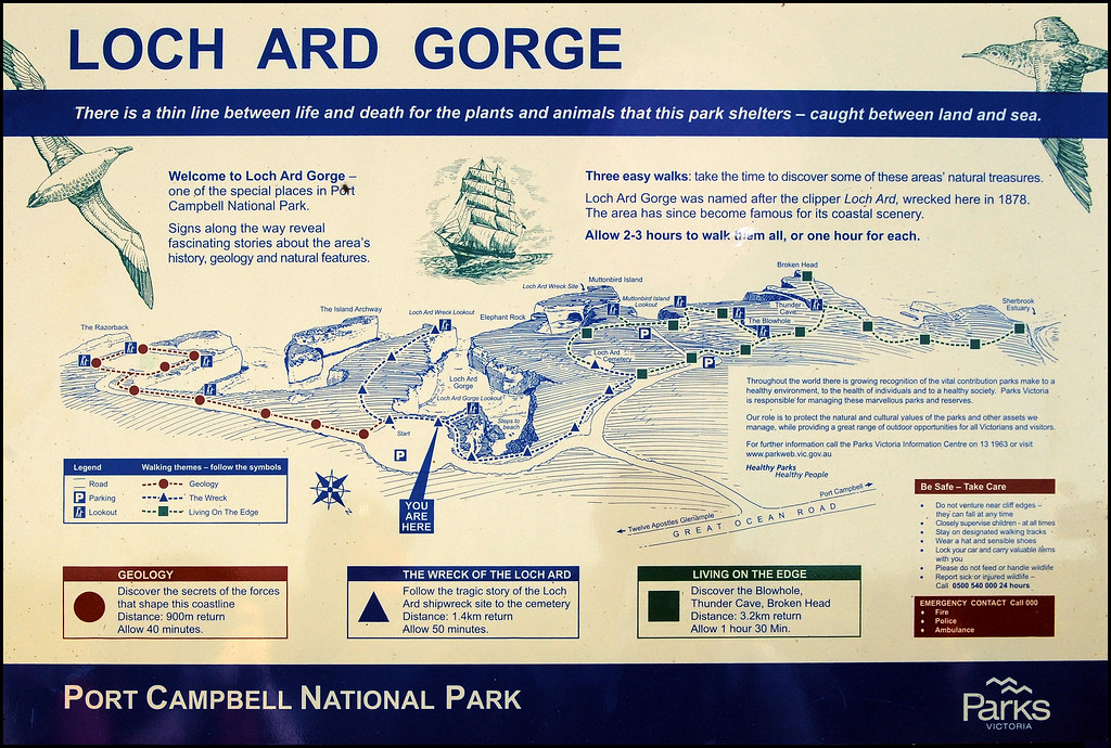 Loch Ard Gorge Map   View Original Size to see the map more
