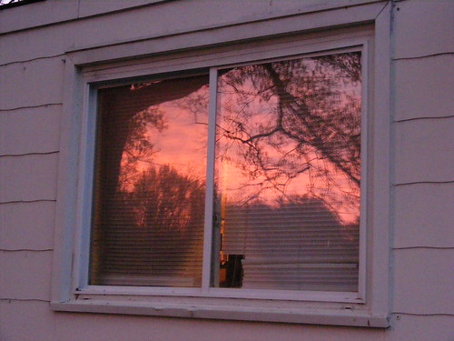 pink sunset sky reflection sc window nature fuji purple finepix lancaster s700