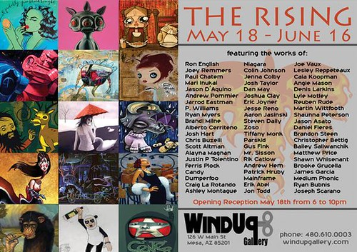 """The Rising"" @ Windup Gallery 5/18/07   by dan:may"