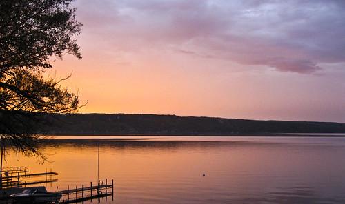 sunset landscape fingerlakes