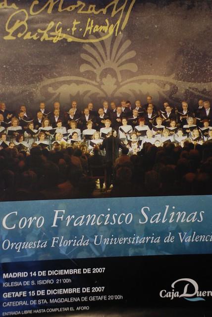 Cartel para el estreno del Requiem de Mozart, en Madrid. Coro Francisco Salinas