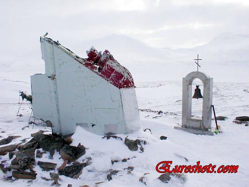 Plane crash memorial on Svalbard (Spitsbergen Шпицберген) Norway