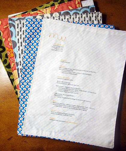 Resume on fabric