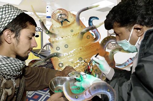 Wormulous Get's much needed Urgent Care at Pakistani Starfleet Med Lab