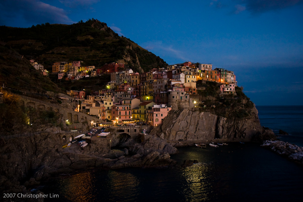 Cinque Terre - Manarola, Night by PocketLim