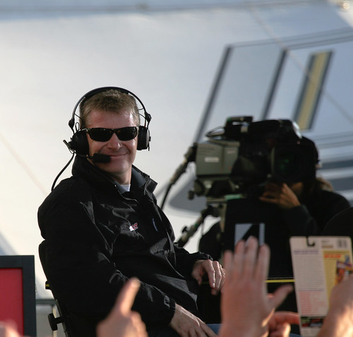 """Jeff Burton at the """"Trackside Live"""" set 