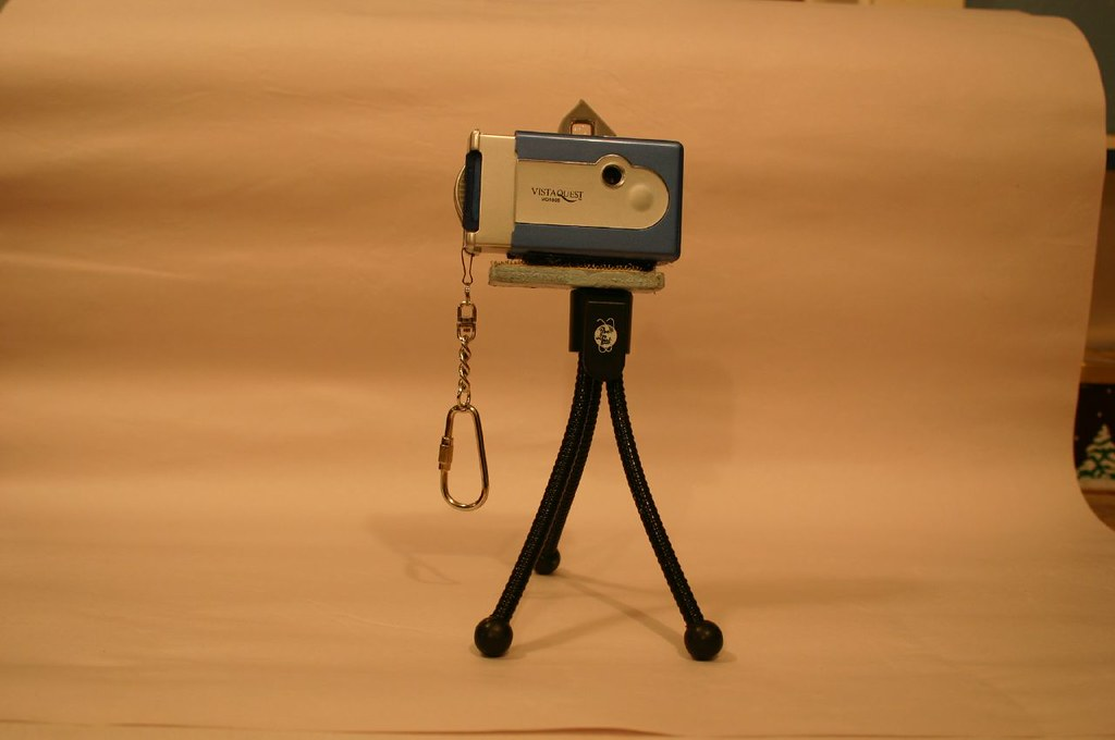 A Tripod Appears To Hold The Camera