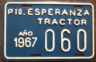 ARGENTINA, Esperanza 1967 tractor