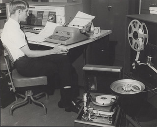 Computer operator, 1960s: the University of Newcastle, Australia | by UON Library,University of Newcastle, Australia