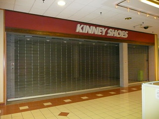 Overland Park, KS Metcalf South Shopping Center (a dead mall) Kinney Shoes