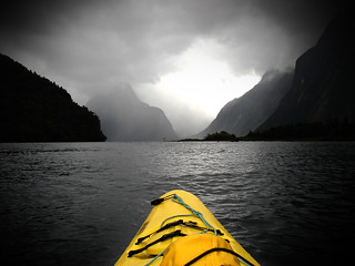Kayaking in Milford Sound, NZ | by ekaintc