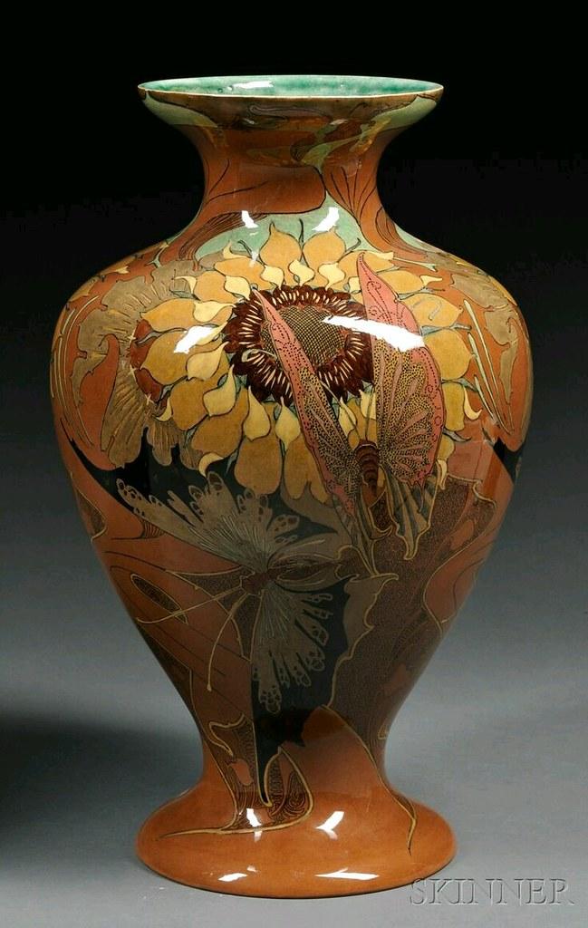 Rozenburg den Haag Gouda Pottery High Glaze Vase, Holland, early 20th century…