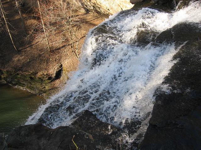 Edge of Upper Piney Falls, Piney Creek Pocket Wilderness, Rhea Co, TN