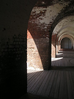 Archways inside the fort
