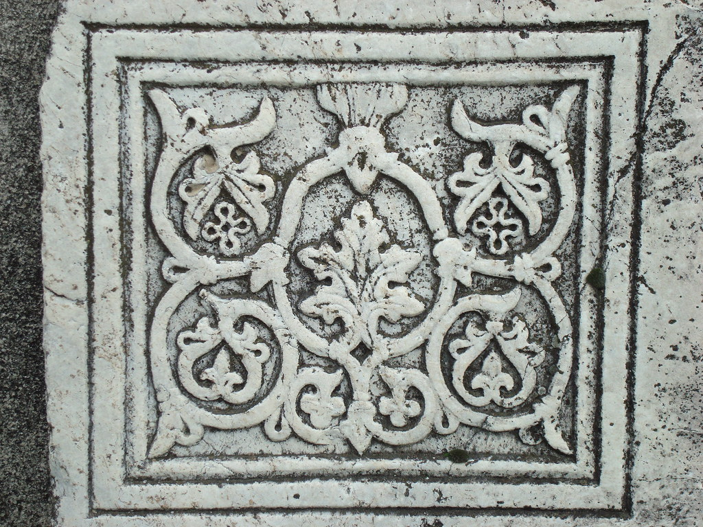 ByzantineBiomorphic Pattern in Marble