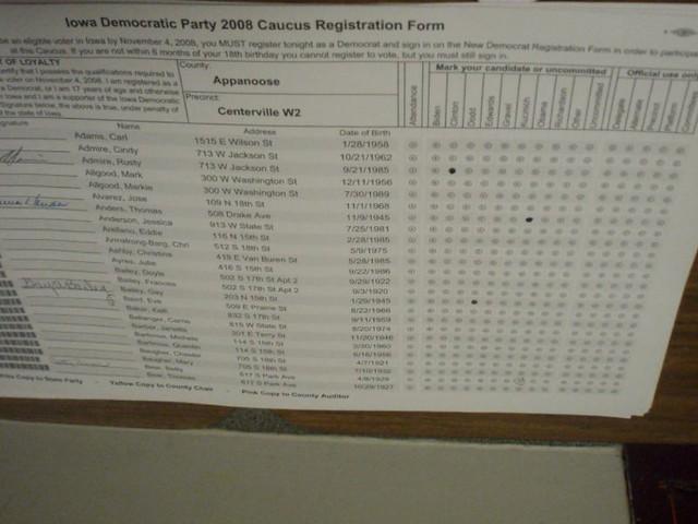 w2 form iowa  Iowa Caucus Registration Form | Lori | Flickr