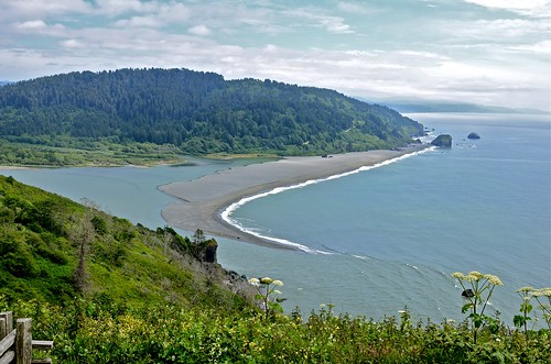 Sand Spit at Klamath River Mouth   by goingslo