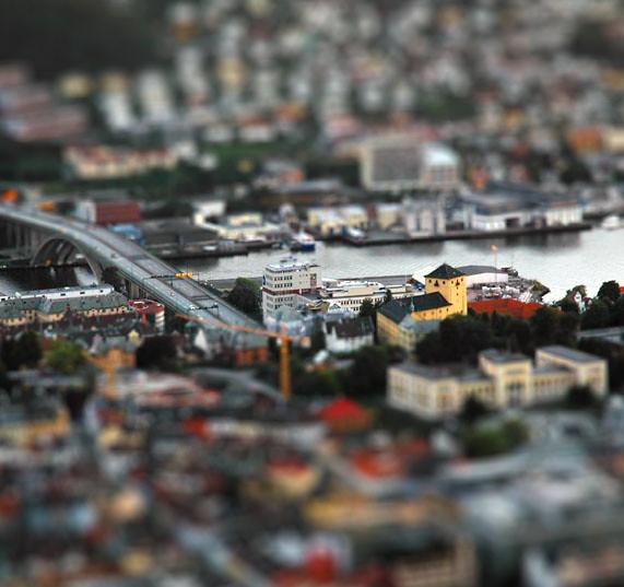 Bergen. Norway (Tilt-Shift, miniature fake)