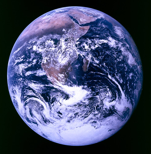 Earth, courtesy Apollo 17, and probably the most reproduced image of all time | by woodleywonderworks