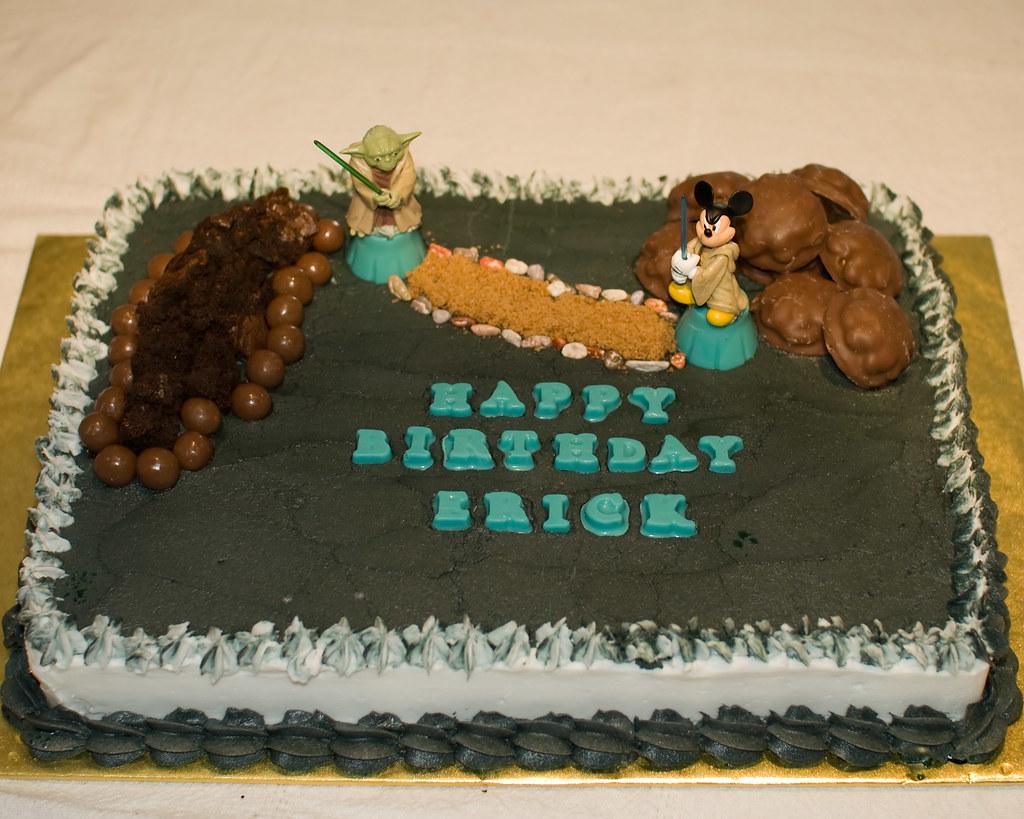 Phenomenal Erick Star Wars Birthday Cake Ericks Very Cool Birthday C Flickr Funny Birthday Cards Online Hetedamsfinfo
