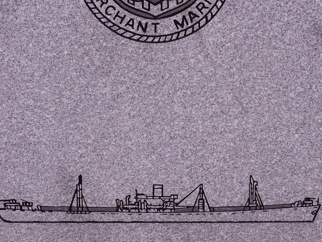 engraved ship