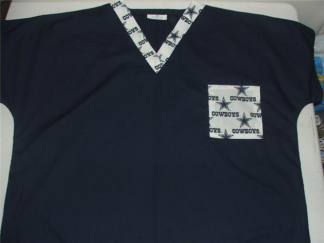 76af40e2080 Dallas Cowboys Scrub top | White Dallas Cowboys 1 pocket on … | Flickr