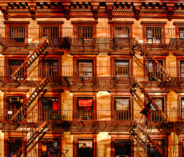 Fireescapes.