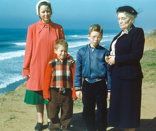 At the beach in 1954   by Snap Man