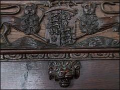 Tudor royal arms (detail)