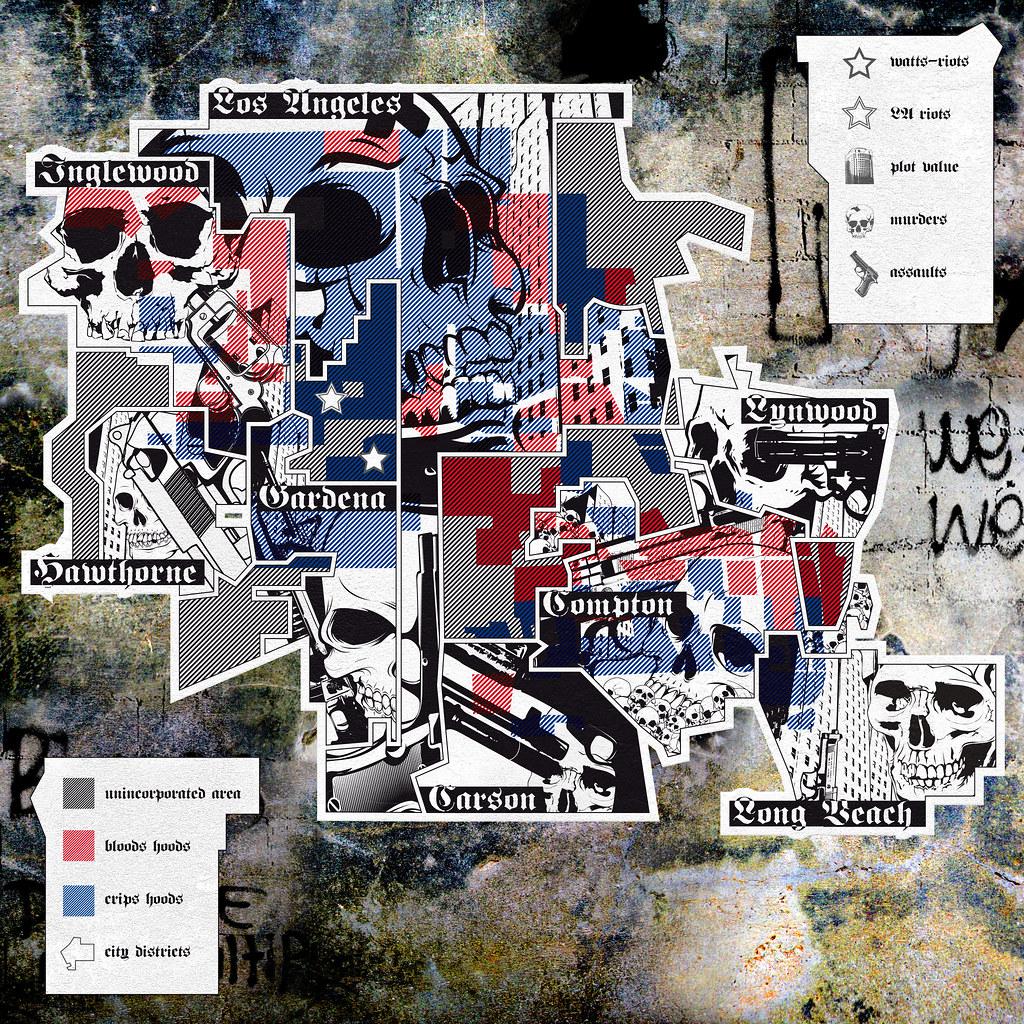 Bloods Vs Crips Map