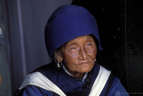Portrait of elderly woman. China   by World Bank Photo Collection