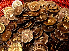 Wollongong Friday Market : Macro of coins with chinese horoscope | by Vanessa Pike-Russell