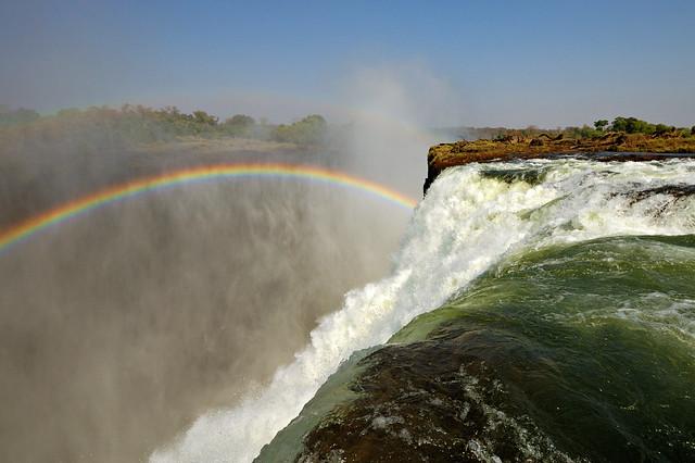 Falling down the falls - Zambia