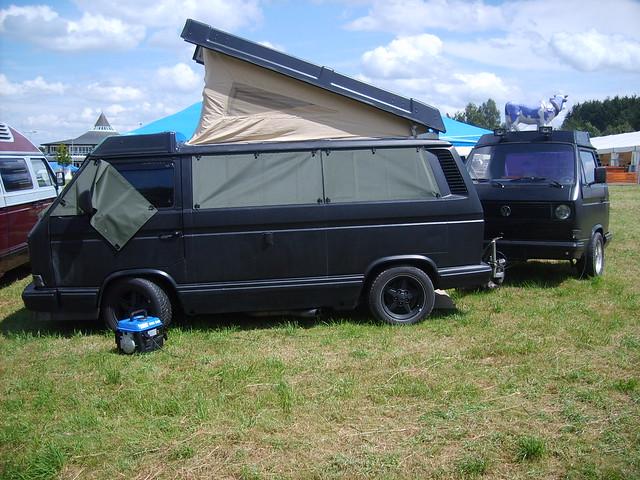 VW T3 mit T3-Anhänger