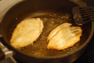 Cooking: frying tenderised chicken breast | by Forest Pines